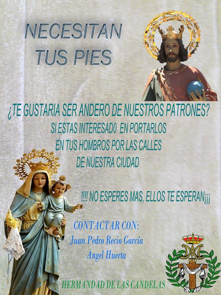 """La Hermandad de Nuestra Señora de las Candelas- Patrona de San Fernando de Henares- """" Necesita tus Pies"""""""