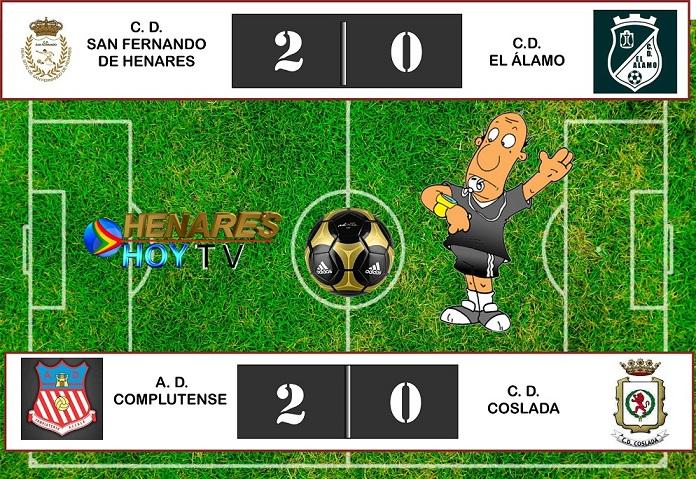 Resultados Jornada 4-03-2018: El CD Coslada pierde fuera, y el CD San Fernando gana en casa.