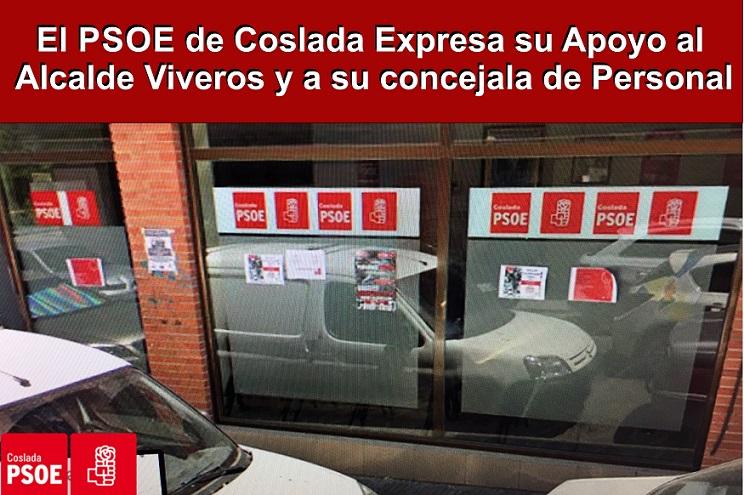 El PSOE de Coslada muestra con rotundidad todo su apoyo al equipo de Gobierno local y, en particular, al alcalde, Ángel Viveros.
