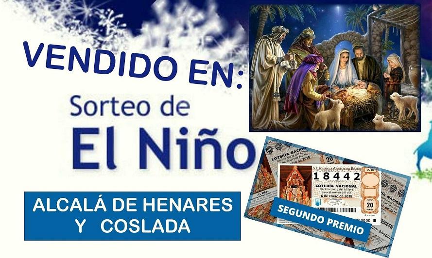 """""""El Niño"""" visita Alcalá de Henares y Coslada. El Num 18442, ha repartido más de dos millones de Euros en estos municipios."""