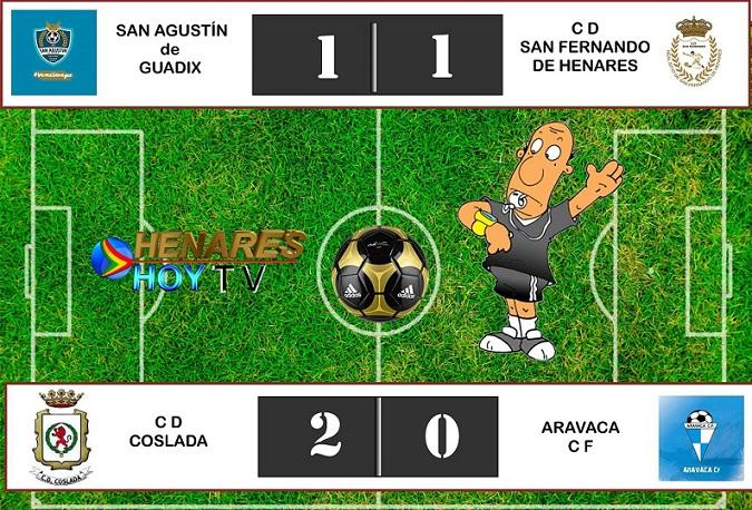 Fútbol: El CD Coslada gana en casa y el CD San Fernando empata fuera.