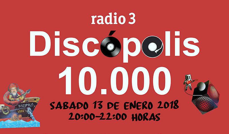 El programa Discópolis de Radio 3 (RNE) elige el Teatro Municipal de Coslada para celebrar que llega a las 10.000 emisiones.