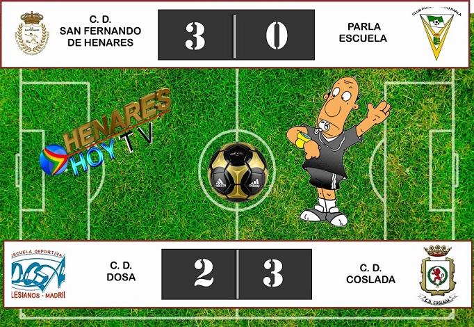 Fútbol: sendas victorias del C.D. San Fernando y  del C.D. Coslada.