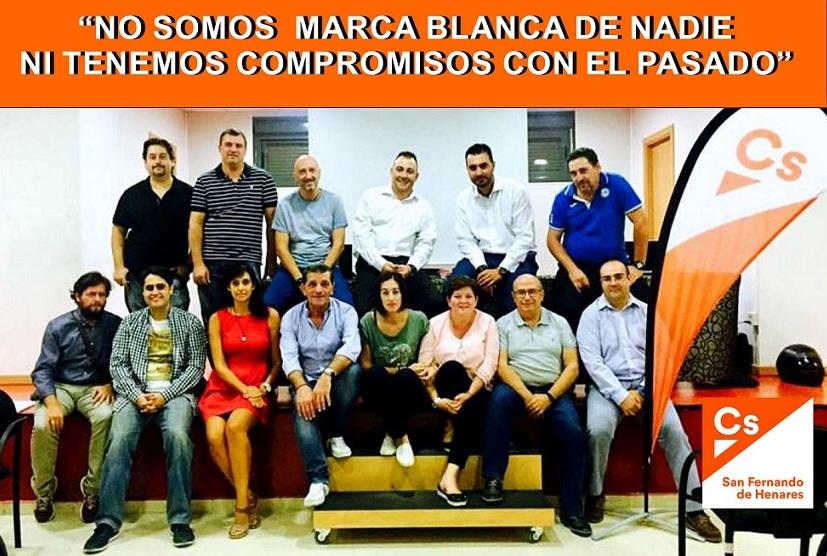 """Ciudadanos C´s  San Fernando de Henares: """" No somos marca blanca de nadie"""""""