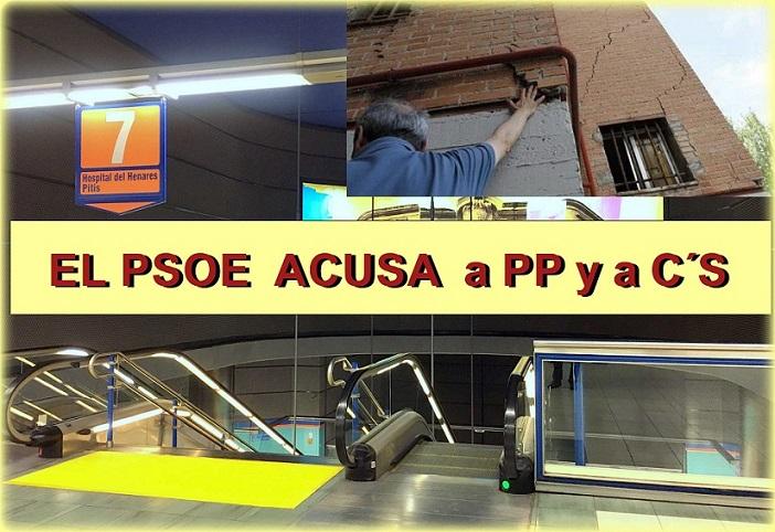 El PSOE de San Fernando de Henares, denuncia que PP y C´s , están en contra de Buscar una solución a las viviendas afectadas por METRO.