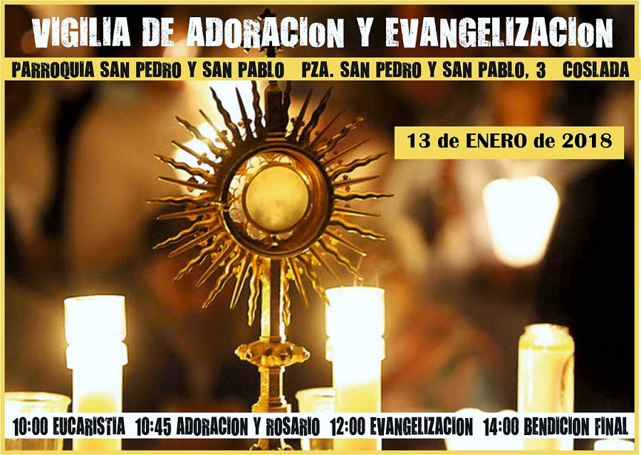 Comunicado Parroquia San Pedro y San Pablo de Coslada: Sábado 13 de Enero de 2018.