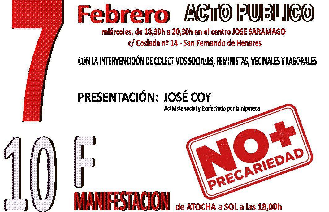 """El próximo  7 de febrero, a las 18,30 horas, en el Centro Multifuncional """"JOSÉ SARAMAGO""""."""