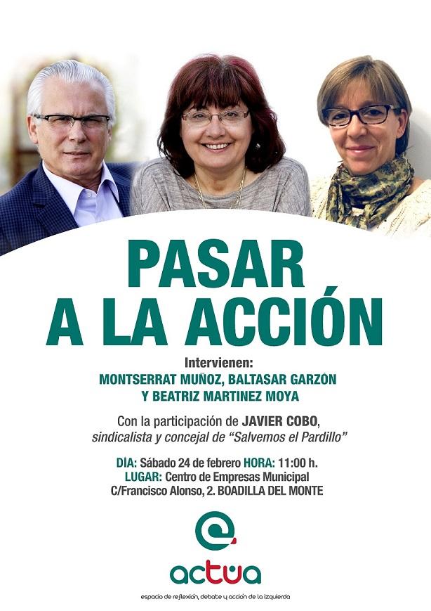 Este sábado 24 de febrero se presenta Actúa en Boadilla del Monte, en un acto dirigido especialmente a toda la sierra noroeste de la Comunidad de Madrid.