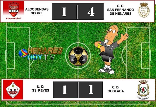 El CD San Fernando Golea y el CD Coslada empata. Ambos jugaron fuera de casa.