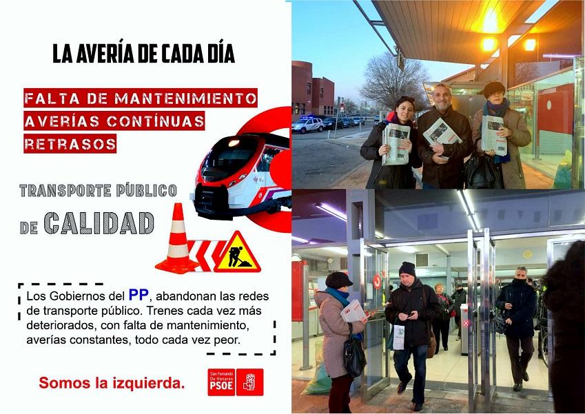 El PSOE de San Fernando de Henares, denuncia e informa a los vecinos/as del Caos que se está viviendo en la red de Cercanías .