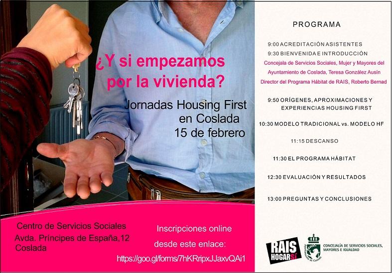 Jueves 15 de Febrero: Jornada Housing First en el Centro de Servicios Sociales de Coslada