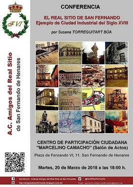 Un acto para conocer la historia del Real Sitio de San Fernando de Henares.