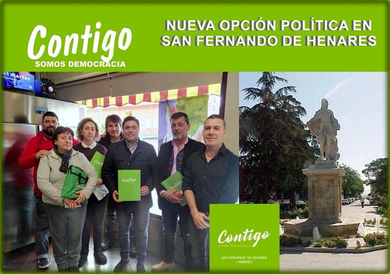 CONTIGO – Somos Democracia- Nace una Nueva opción Política en San Fernando de Henares(Madrid)