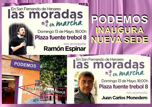 Podemos Inaugura Nueva sede en San Fernando de Henares.