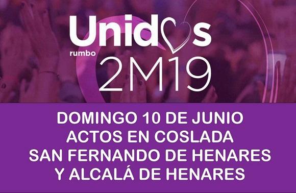 La plataforma 'Unid@s Rumbo 2M19' Impulsada desde el sector oficialista de Podemos, celebrará diversos actos el domingo 10 de Junio en el Corredor.