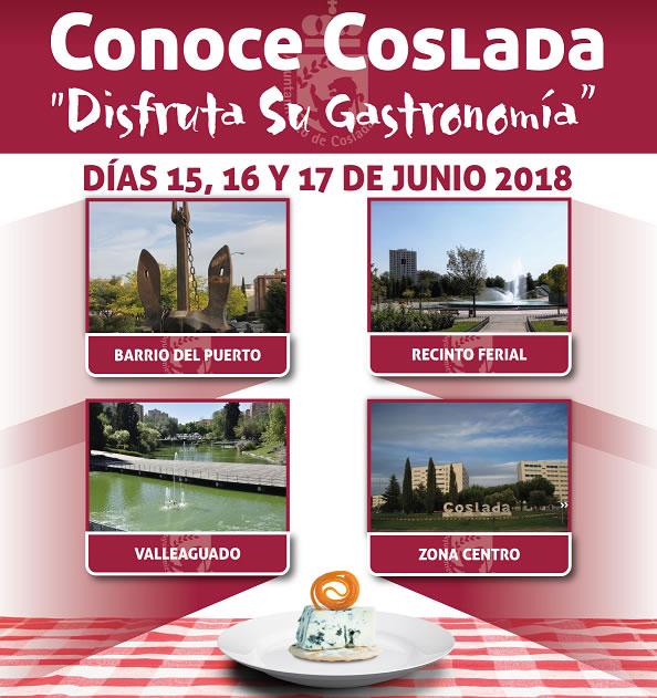 En los días 15, 16, y 17 de junio de 2018, un total de 37 establecimientos participarán en la feria gastronómica 'Conoce Coslada'.