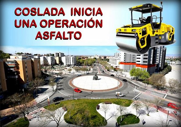 Comienzan las obras en Coslada del Plan de Asfaltado que permitirá la rehabilitación de más de 128.000 metros cuadrados de superficie.