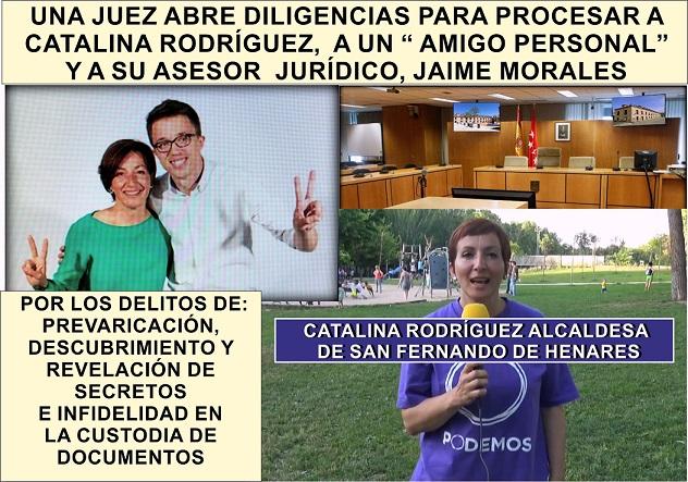 """Se abren diligencias para Procesar a Cati Rodríguez, Alcaldesa de San Fernando, a un """"Amigo personal"""", y a su asesor jurídico, Jaime Morales."""