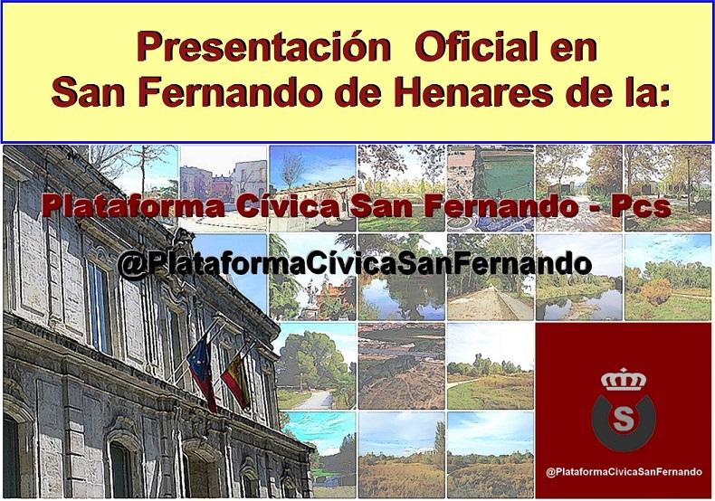 Presentación de la Plataforma Cívica San Fernando- @Pcs.
