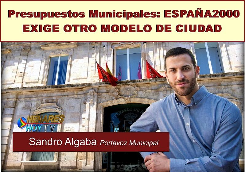 España2000 Exige otro modelo de Ciudad en el debate de los presupuestos municipales/2018.