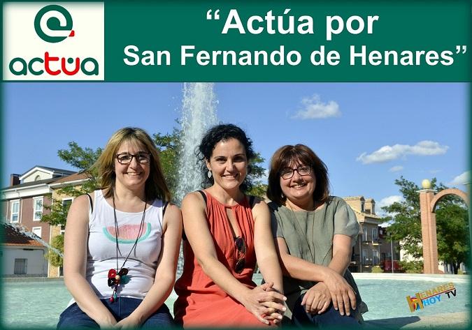 El nuevo partido político Actúa-San Fernando de Henares presenta el próximo jueves 25 de Octubre, su manifiesto para el municipio.