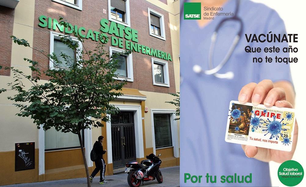 SATSE Madrid pone en marcha una campaña para que los profesionales de Enfermería y Fisioterapia se vacunen contra la gripe.