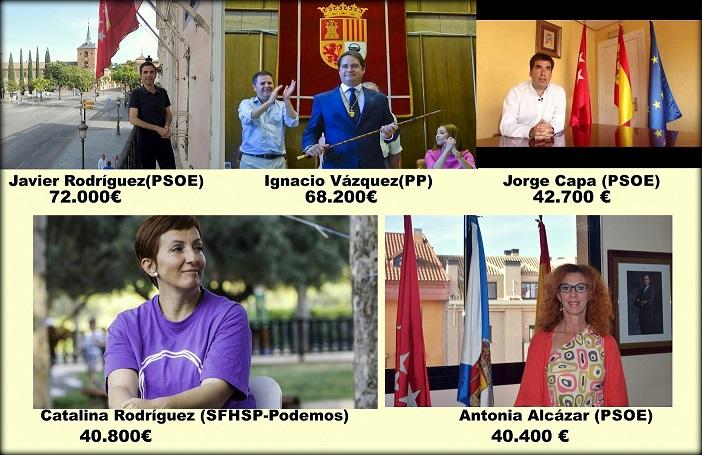 ¿Cuánto cobra tu alcalde o Alcaldesa?: de los 102.009,97€  de Manuela Carmena, la alcaldesa mejor pagada de España, a los 2.700 regidores sin sueldo.
