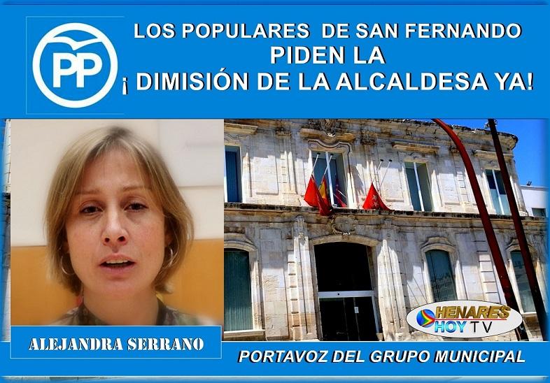 Los Populares de San Fernando de Henares, Piden la Dimisión de la Alcaldesa YA!!