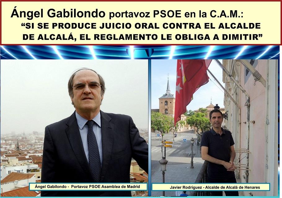 """Ángel Gabilondo asegura de forma contundente, que """"si se produce apertura de juicio oral contra alcalde de Alcalá, el reglamento le obliga a dimitir""""."""