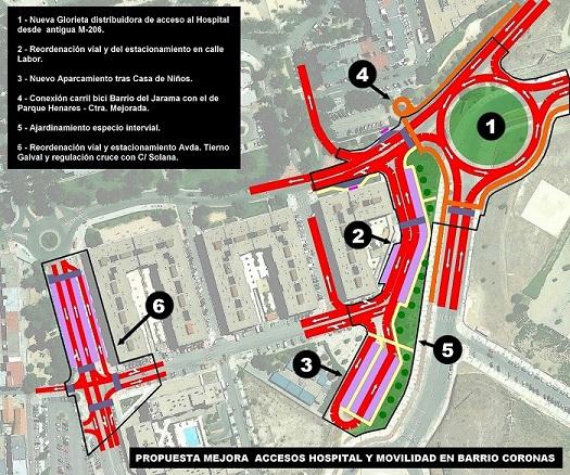 Interesante Propuesta que presenta la Plataforma Cívica San Fernando, la mejora de accesos al Bº del Jarama y Hospital del Henares.