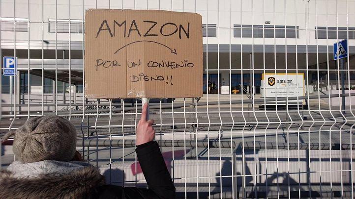 Un 30 por ciento de trabajadores de Amazon secundó la huelga el pasado sábado.