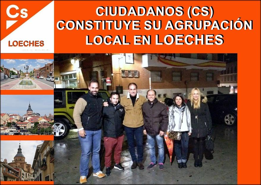 Ciudadanos (Cs) constituye una nueva agrupación  local en Loeches.