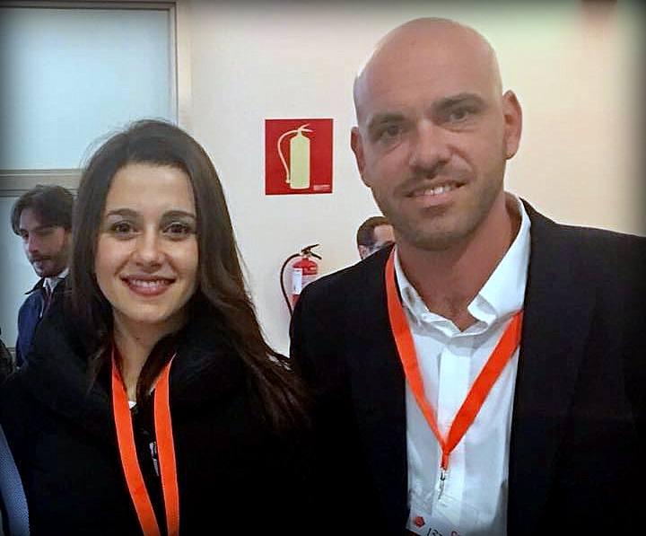 Bernardo González con Inés Arrimadas. foto de archivo