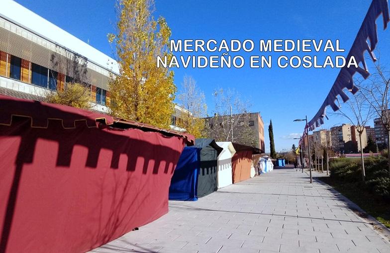 Coslada: El Paseo de la Rambla acoge este fin de semana el tradicional Mercadillo Medieval Navideño.