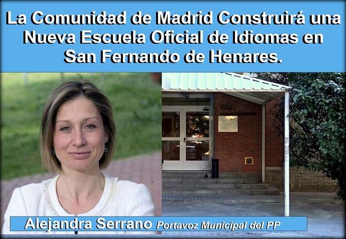 La Comunidad de Madrid, Construirá en San Fernando de Henares una Nueva Escuela Oficial de Idiomas.