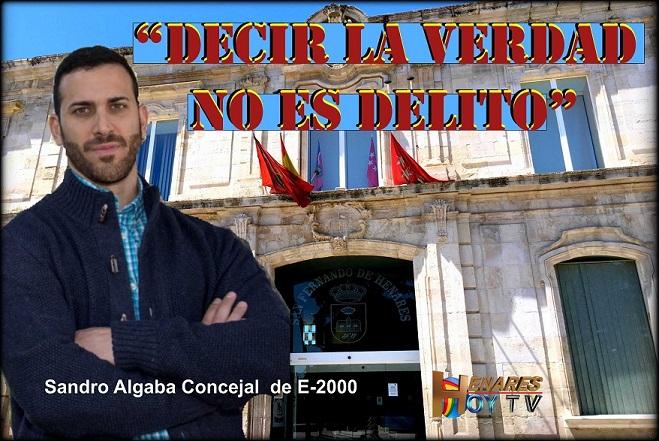 """""""Decir la verdad no es delito: La Justicia da la razón al concejal de España2000 Sandro Algaba."""""""
