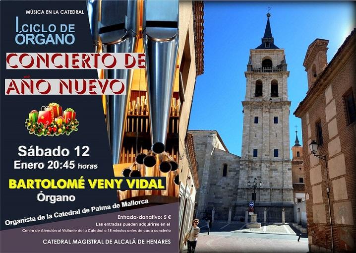 Catedral de Alcalá de Henares: Sábado 12 de Enero 2019 a las 20:45 horas, Concierto de Órgano.