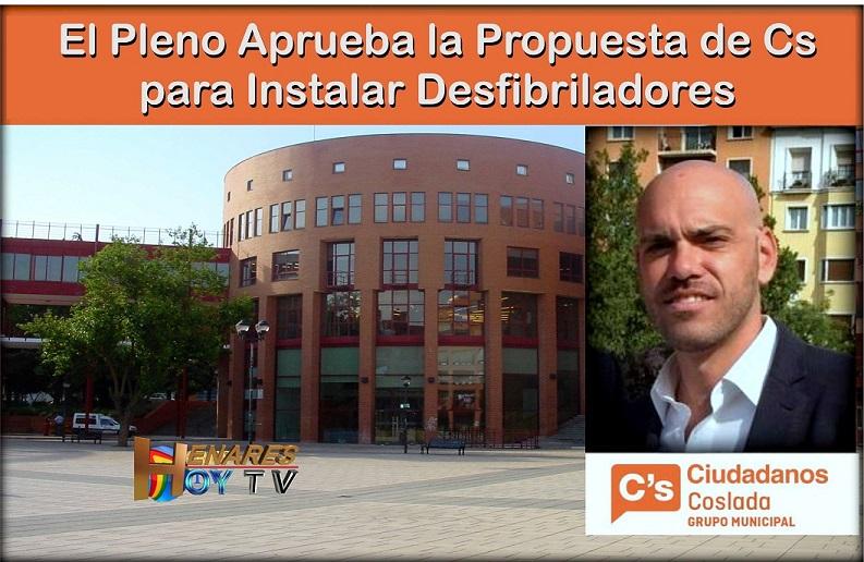 El municipio de Coslada cumplirá con la normativa de instalar desfibriladores fuera del ámbito sanitario.