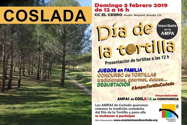 En Coslada: 3 de Febrero se celebra el día de la Tortilla.