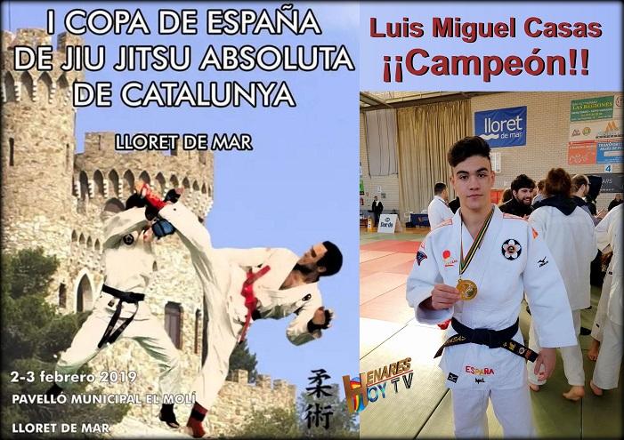 El Sanfernandino Luis Miguel Casas consigue el Oro en la  I Copa de España de  JIU JITSU  absoluta de Cataluña.