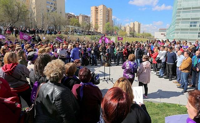 Coslada se concentró por la igualdad el 8 de Marzo, Día Internacional de la Mujer.