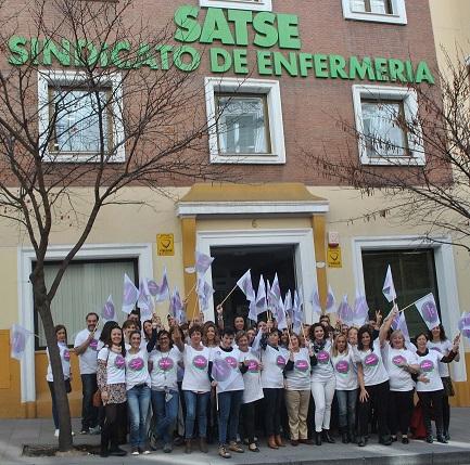 El Sindicato de enfermería SATSE Madrid se suma a las movilizaciones del 8 de marzo.
