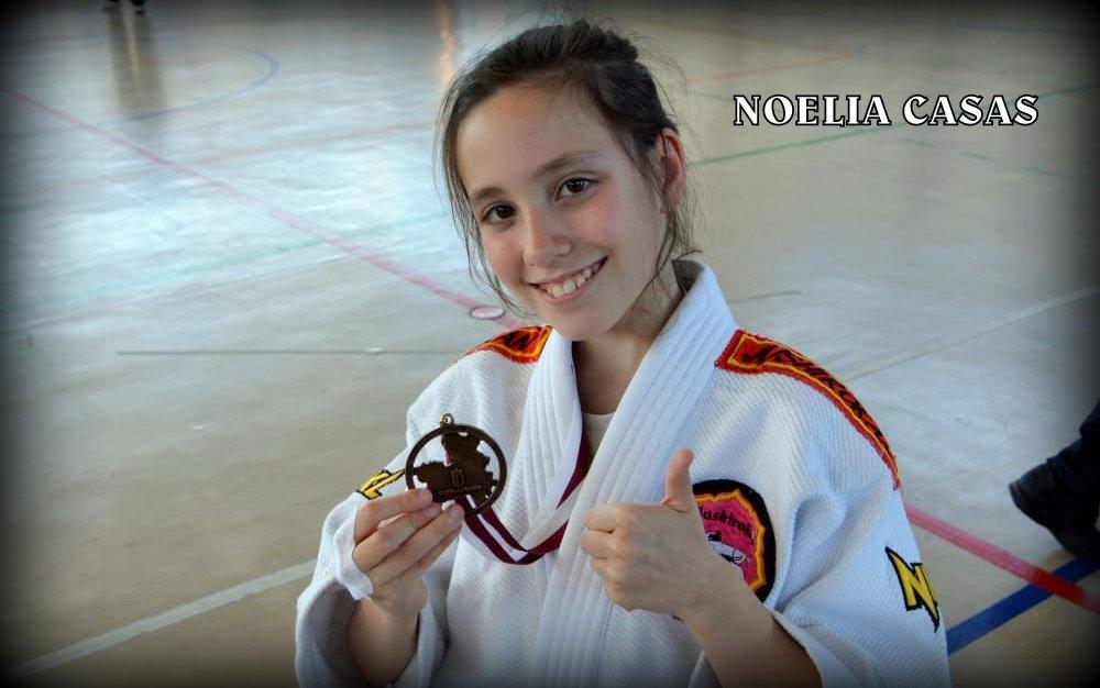 Noelia Casas  proclamada campeona de la competición regional en edad escolar de Castilla La Mancha de judo sub 13 -30 kg.