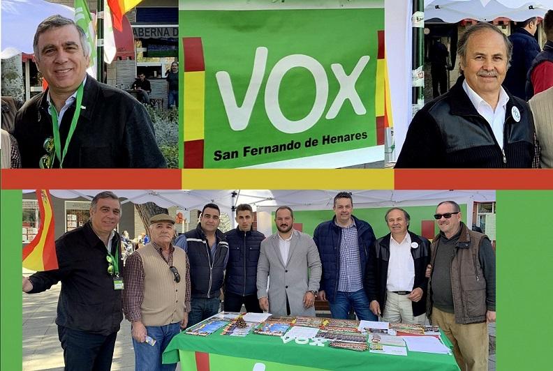 VOX San Fernando de Henares continúa la presentación de sus proyectos para el municipio mediante comunicados y mesas informativas.