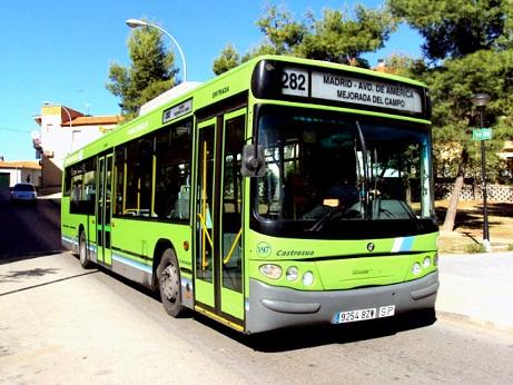 Modificación y ampliación de los horarios de la línea de autobús 282 durante los días laborables.