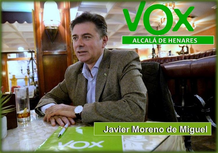 Javier Moreno de Miguel será el candidato de VOX  a la alcaldía de Alcalá de Henares.