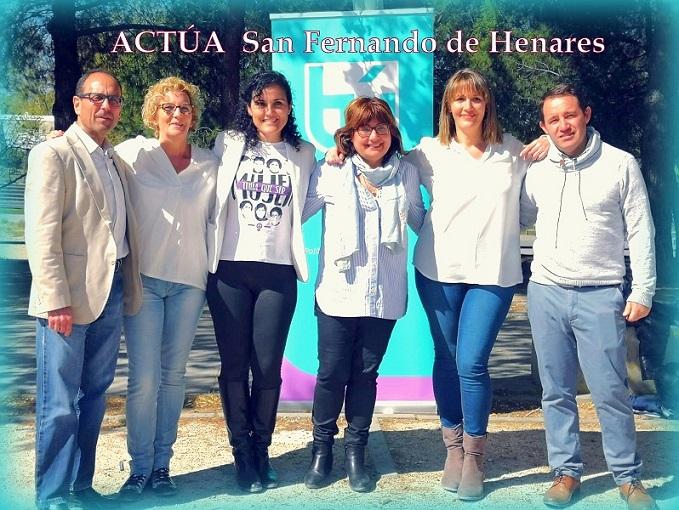Actúa presenta en San Fernando de Henares su candidatura a las próximas elecciones Municipales del 26-M