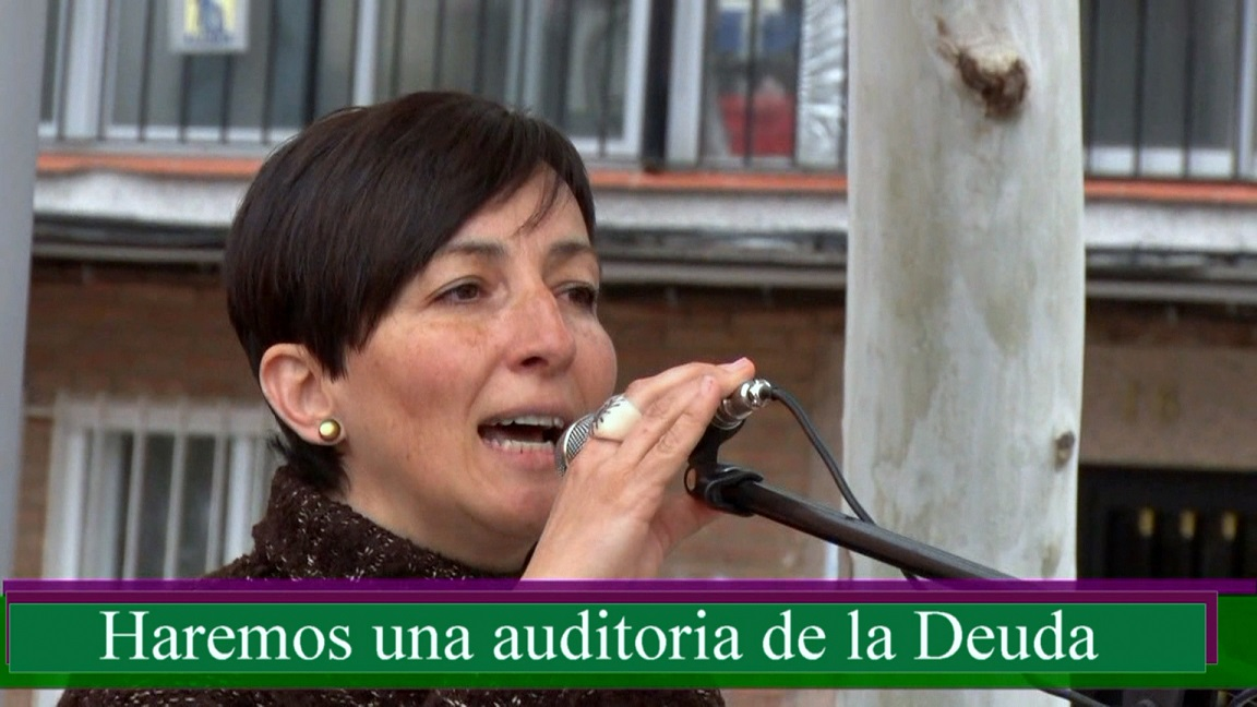 Catalina prometiendo una auditoría sobre plz España, en las pasadas elecciones de 2015