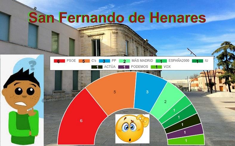 El PSOE gana por la mínima, 6 concejales, CS irrumpe con fuerza(5) y el PP se hunde. Obtiene solo 3 concejales de 6 que tenía.