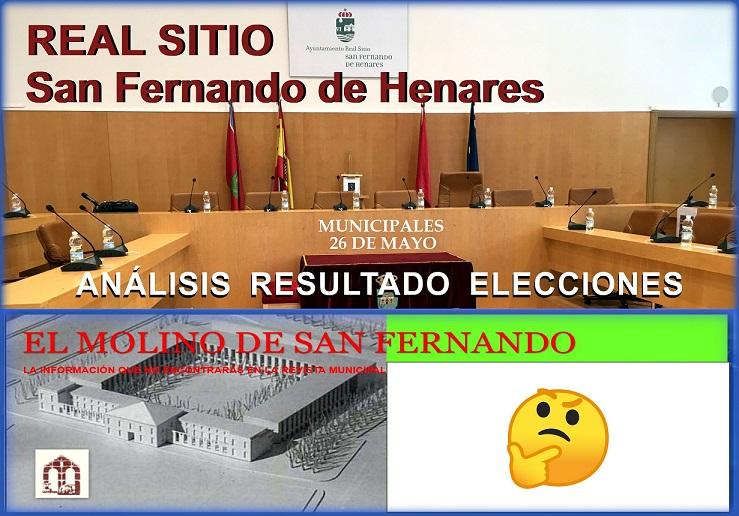 Breve análisis del Resultado de las Elecciones Municipales en San Fernando de Henares.